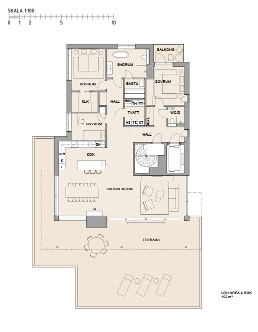 Planritning Lägenhet 91